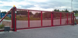 Red Sliding Gate